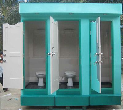 Nhà vệ sinh di động 3 buồng