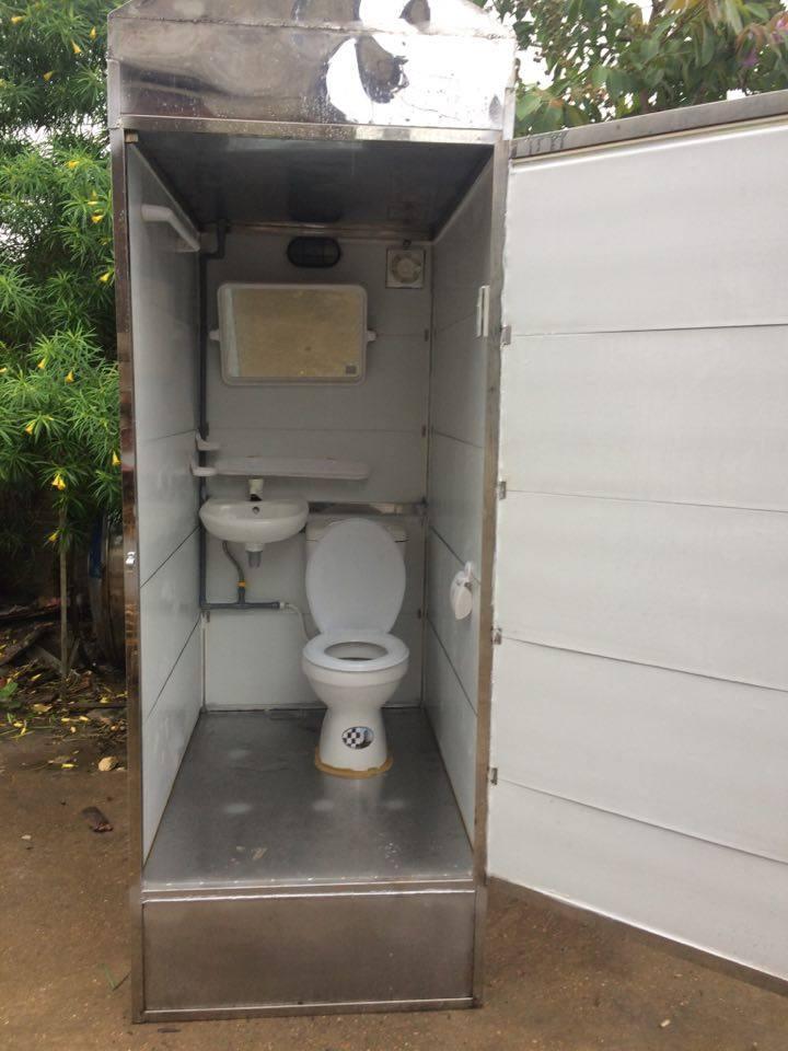 tự làm nhà vệ sinh di động